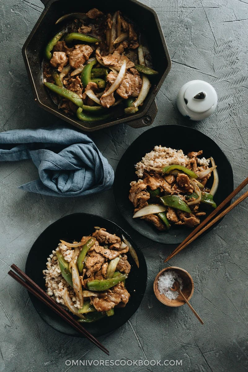 Pork and Pepper Stir-Fry | Omnivore's Cookbook