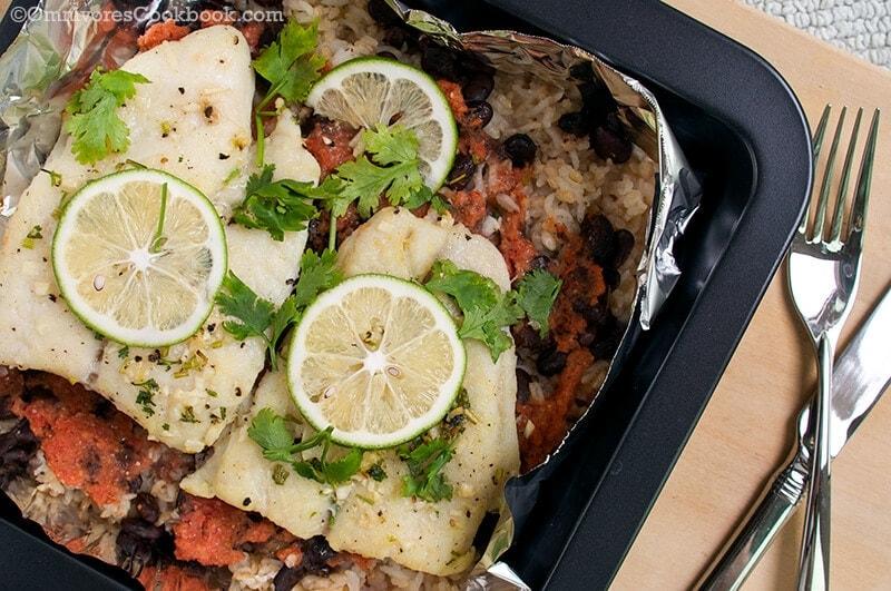 Caribbean style roast fish