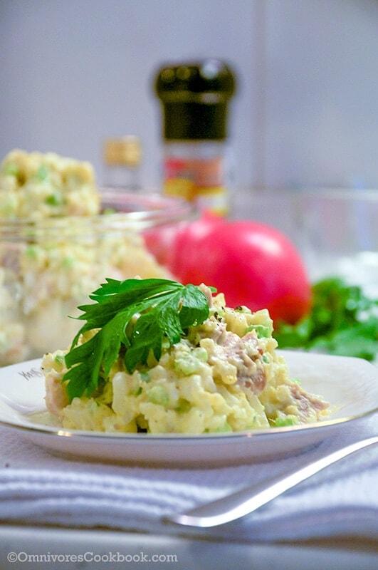 Potato chicken salad