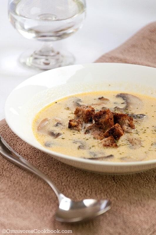 Julia Child's cream mushroom soup