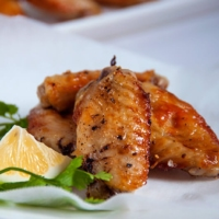 Grilled salt and pepper chicken wings