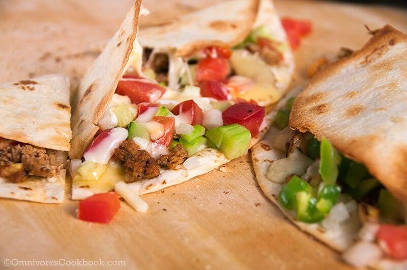 Homemade Mexican Chorizo and Colorful Quesadilla | Omnivore's Cookbook