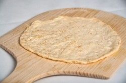 Homemade pizza crust cooking process