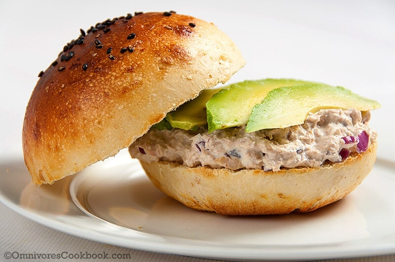Avocado Tuna Salad Sandwich | Omnivore's Cookbook