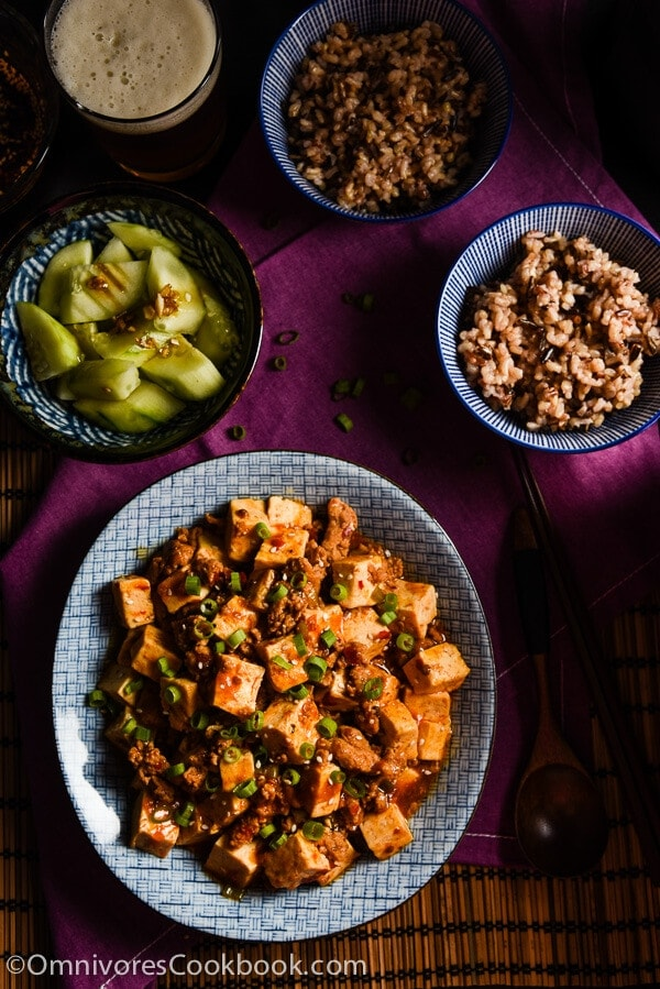 Authentic Mapo Tofu (麻婆豆腐) - An easy mapo tofu recipe that creates the authentic taste of China | omnivorescookbook.com