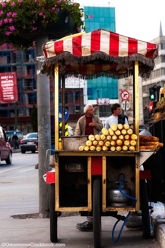 Grilled Corn - Turkish Street Food