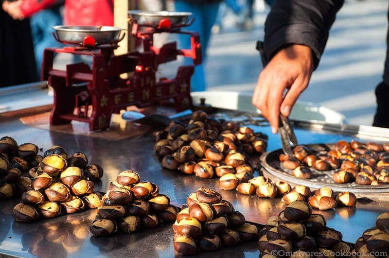Grilled Chestnut - Turkish Street Food