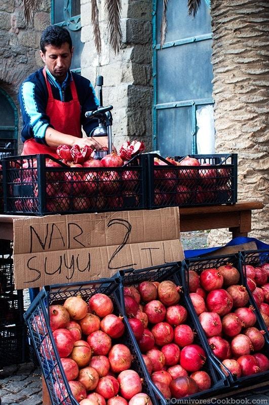 Pomegranate juice - Turkish Street Food