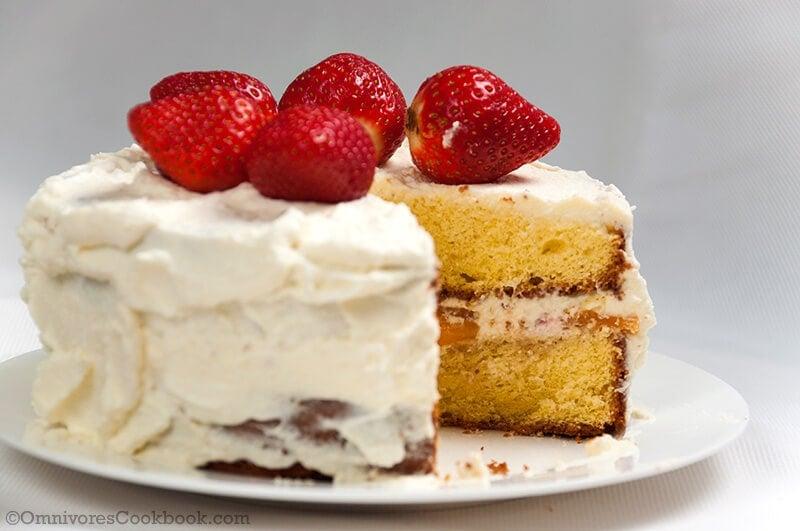 Recipes For Japanese Sponge Cake: Japanese Strawberry Shortcake For Christmas
