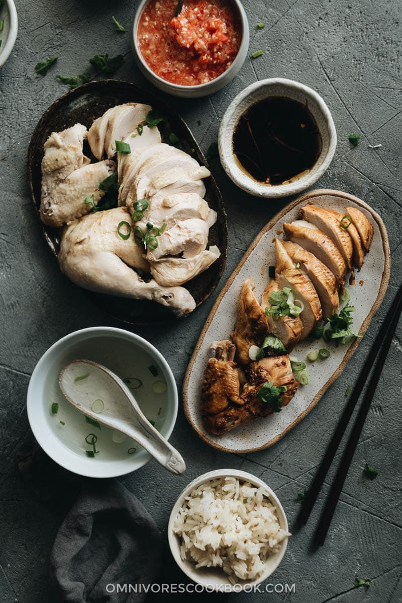 Homemade Hainanese Chicken Rice