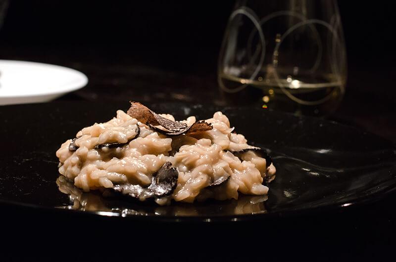Fresh winter black truffle risotto