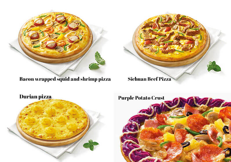 Weird Chinese Pizza Hut Pizzas