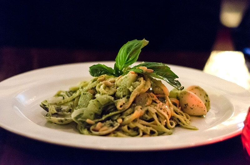 Dinner at Nando Milano Trattoria - Pesto Pasta