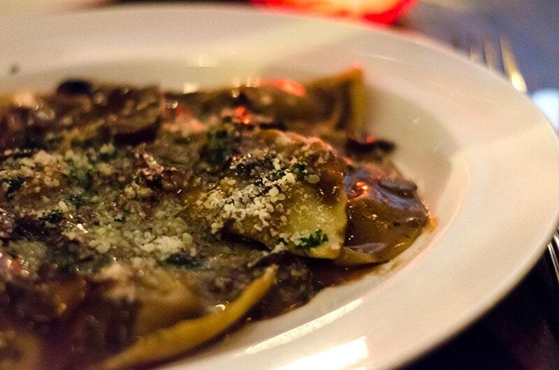 Dinner at Nando Milano Trattoria - veal ravioli