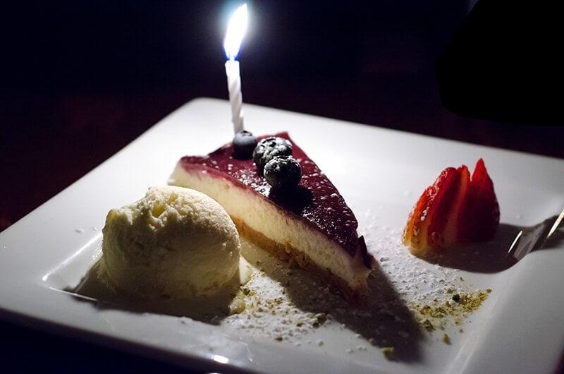 Dinner at Nando Milano Trattoria - cheesecake