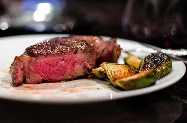 perfect homemade steak and roasted brussels sprouts