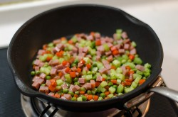 Vegetables Eggs and Ham Fried Rice | Omnivore's Cookbook