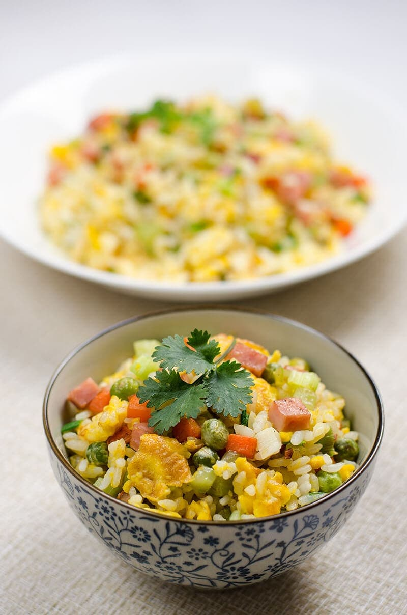 Vegetables Egg and Ham Fried-Rice | Omnivore's Cookbook