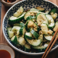 Traditional Chinese cucumber salad