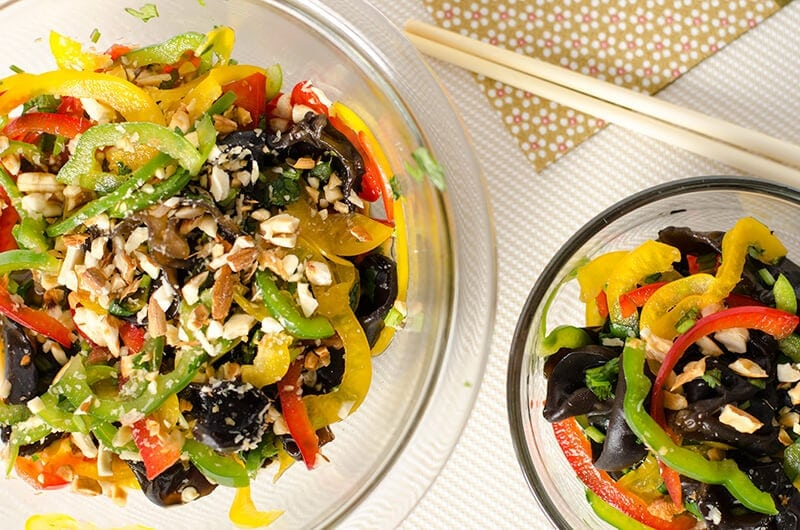 Black Fungus Salad (凉拌木耳) - an easy, healthy and refreshing Chinese appetizer | Omnivore's Cookbook