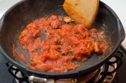 Stir Fried Cauliflower with Tomato Sauce process | Omnivore's Cookbook