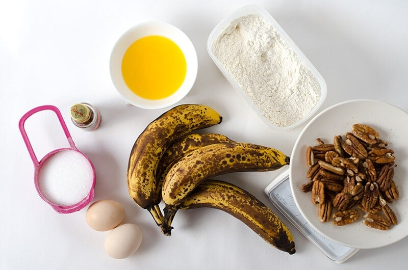 Low Sugar Banana Bread Ingredients | Omnivore's Cookbook