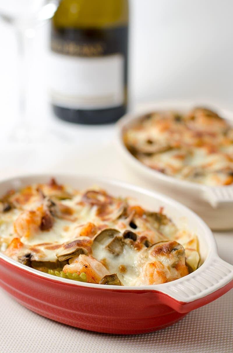 Baked Seafood Pasta   Omnivore's Cookbook