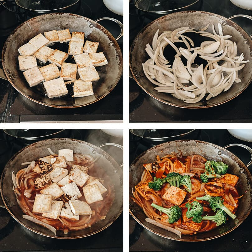 Sweet and Sour Tofu cooking process