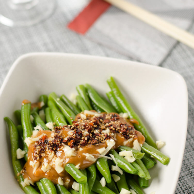 Green Beans with Spicy Peanut Sauce   Omnivore's Cookbook