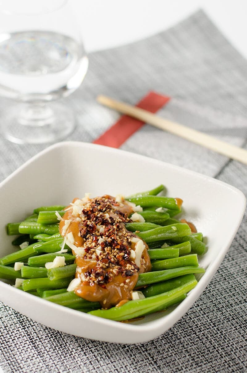 Green Beans with Spicy Peanut Sauce | Omnivore's Cookbook