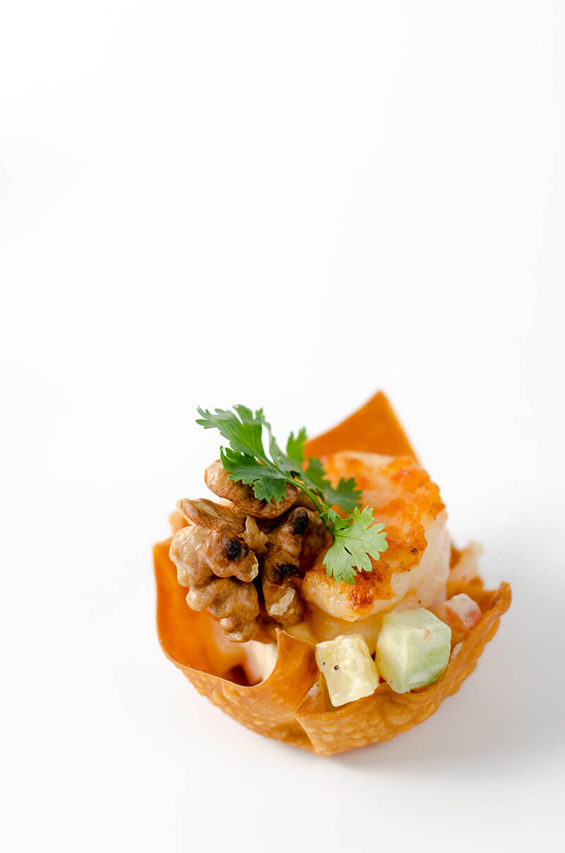 walnut shrimp cup | Omnivore's Cookbook
