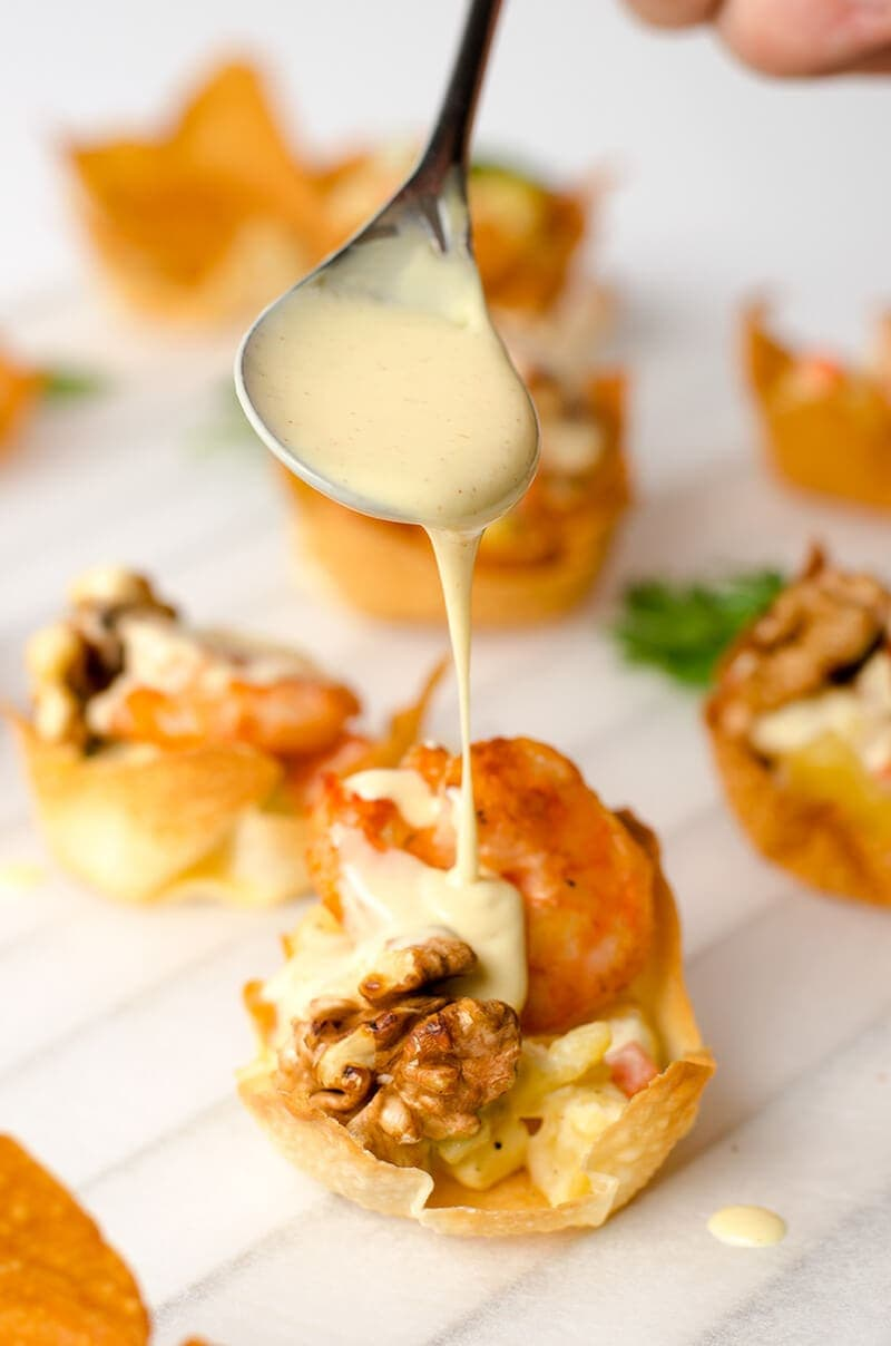 walnut shrimp cup | Omnivore's Cookbook
