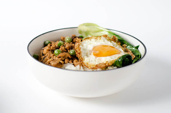Chinese ground chicken bowl | Omnivore's Cookbook