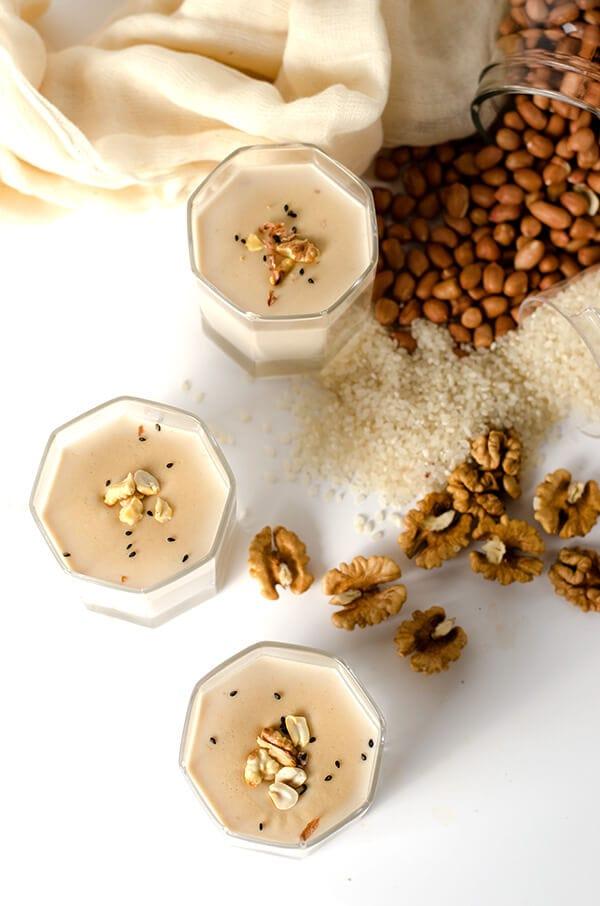 Breakfast Smoothie with Walnut, Peanut and Rice | Omnivore's Cookbook