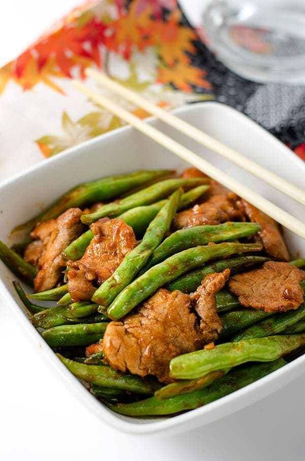 Curry Pork and Green Beans Stir Fry   Omnivore's Cookbook