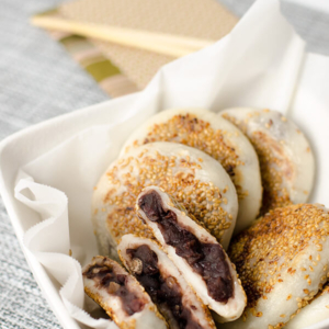 Sticky Rice Cake with Red Bean Paste | Omnivore's Cookbook