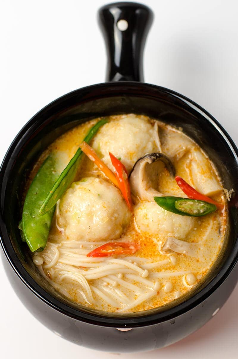 Thai coconut soup with fish ball omnivore 39 s cookbook for Thai fish soup