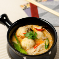 Thai Coconut Soup with Fish Ball | Omnivore's Cookbook