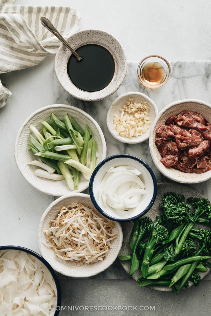 Real-Deal Beef Chow Fun Ingredients