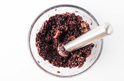 Black Rice with Coconut Milk and Fruits cooking process | omnivorescookbook.com