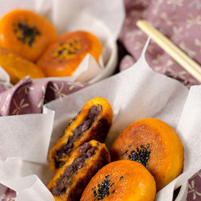 Chinese Pumpkin Bun | omnivorescookbook.com/