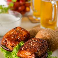 Teriyaki Salmon Sandwich | omnivorescookbook.com