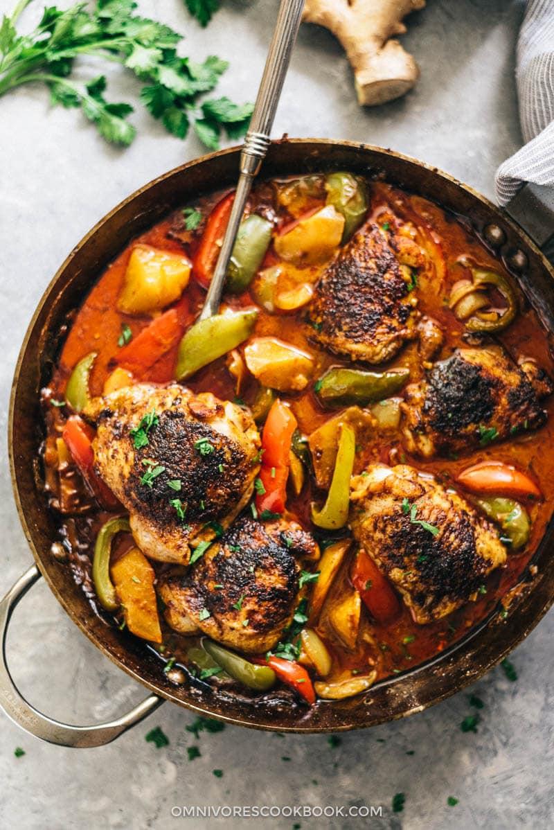African Chicken Macanese One Pan Chicken Curry 非洲鸡 Omnivore S Cookbook