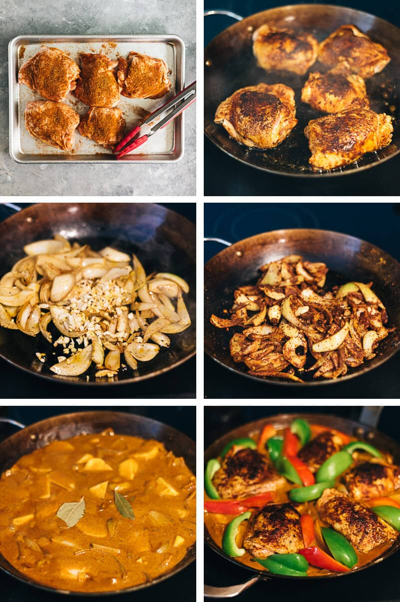 African Chicken Cooking Process