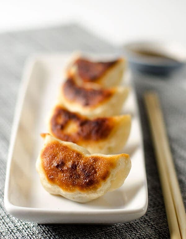 San Xian Potsticker with Pork, Shrimp and Shiitake Mushroom   omnivorescookbook.com