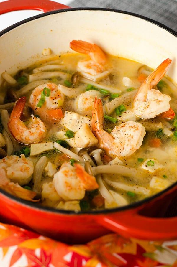 Seafood Tofu Stew | omnivorescookbook.com