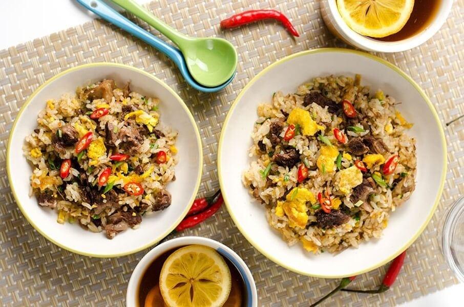 Mongolian Beef Fried Rice | omnivorescookbook.com