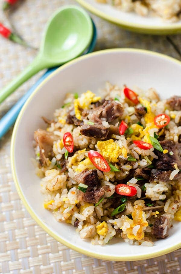 Mongolian Beef Fried Rice - 20 Chinese Recipes You Need to Try Out in 2015 | omnivorescookbook.com