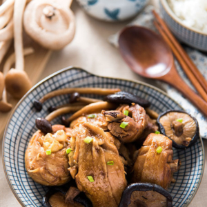 Braised Chicken with Mushroom (小鸡炖蘑菇) | omnivorescookbook.com