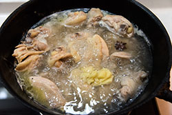 Braised Chicken and Mushroom Cooking Process | omnivorescookbook.com